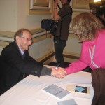 Shaking hands with Philip Levine