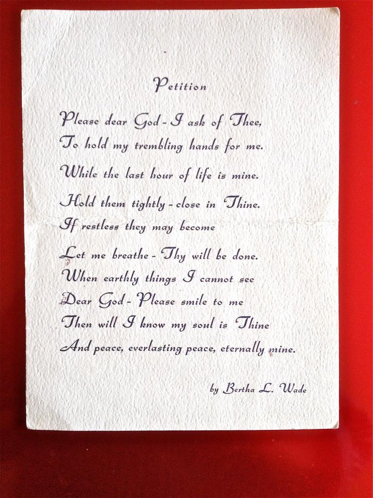 Petition by Bertha L. Wade